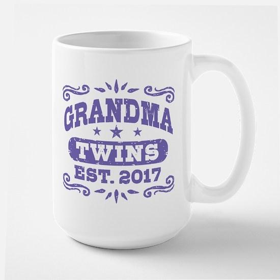 Grandma Twins Est. 2017 Large Mug