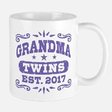 Grandma Twins Est. 2017 Small Mugs