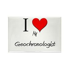 I Love My Geochronologist Rectangle Magnet