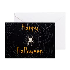 spiderhalloween2 Greeting Cards