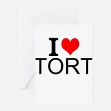 I Love Torts Greeting Cards