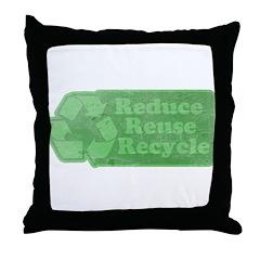 Reduce Reuse Recycle Throw Pillow