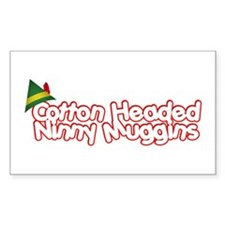 Cotton Headed Ninny Muggins Rectangle Decal