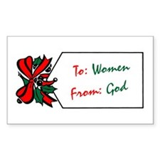 God's Gift To Women Rectangle Decal