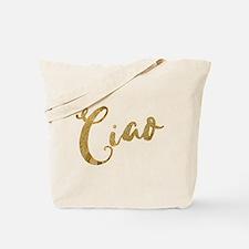 Golden Look Ciao Tote Bag