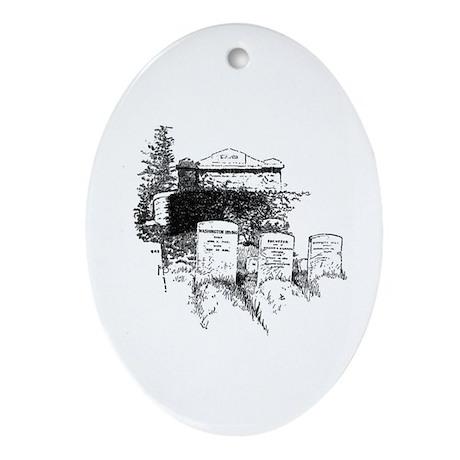 Tombstones and Funerals Keepsake (Oval)