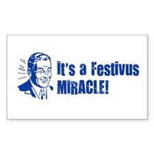 Festivus Miracle Rectangle Decal
