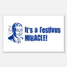 FESTIVUS™ Miracle Rectangle Decal