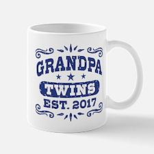 Grandpa Twins Est. 2017 Mug