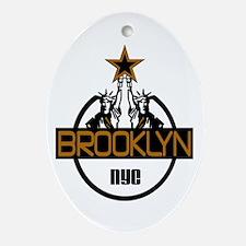 """""""Brooklyn Shirts"""" Oval Ornament"""