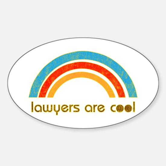 Lawyers Are Cool Oval Decal