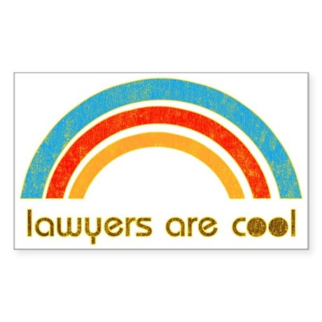 Lawyers Are Cool Rectangle Sticker