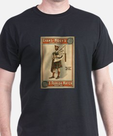 A Parlor Match Old Hoss Scottish Bagpiper T-Shirt