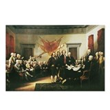 Declaration of independence signing Postcards