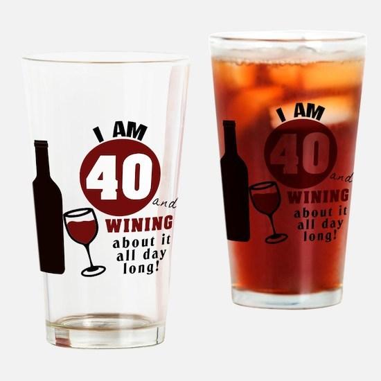 Funny 40th birthday funny Drinking Glass