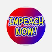 "IMPEACH NOW! Red/Blue logo 3.5"" Button"