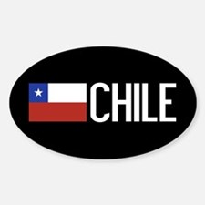 Chile: Chilean Flag & Chile Sticker (Oval)