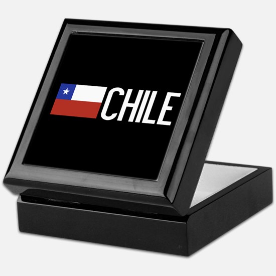 Chile: Chilean Flag & Chile Keepsake Box
