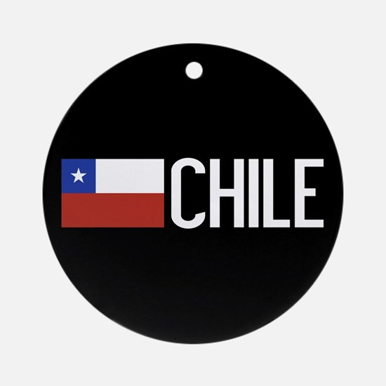 Chile: Chilean Flag & Chile Round Ornament