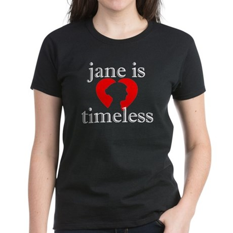 Jane is Timeless - Silhouette Women's Dark T-Shirt
