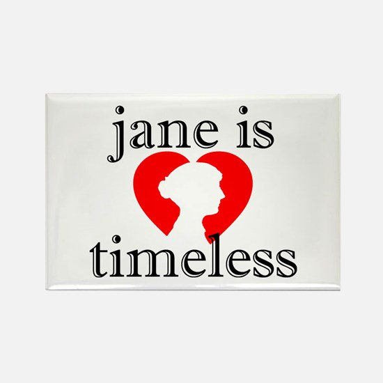 Jane is Timeless - Silhouette Rectangle Magnet