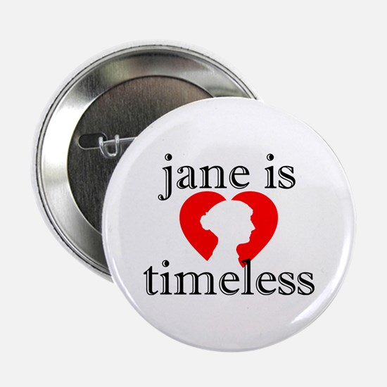 "Jane is Timeless - Silhouette 2.25"" Button"