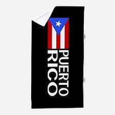 Puerto Rico: Puerto Rican Flag & Puert Beach Towel