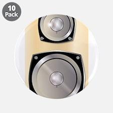 "Music Speaker 3.5"" Button (10 pack)"