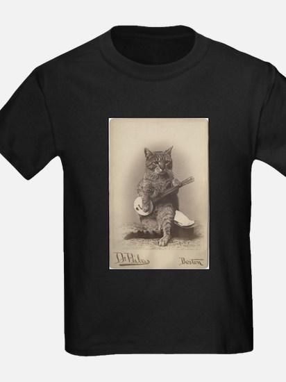Cat Playing a Banjo T-Shirt