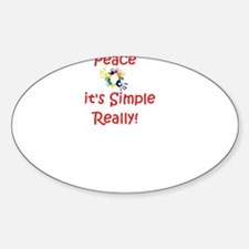 Peace...It's Simple Oval Decal