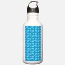 Vote Blue Pattern Water Bottle