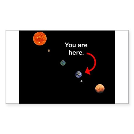 You are here Rectangle Sticker