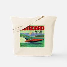 Outboard Apple - Vintage Crate Label Tote Bag