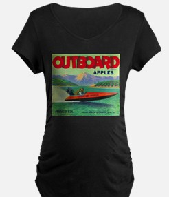 Outboard Apple - Vintage Crate Label Maternity T-S