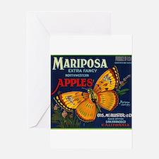 Mariposa Apple - Vintage Crate Label Greeting Card