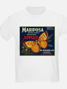 Mariposa Apple - Vintage Crate Label T-Shirt