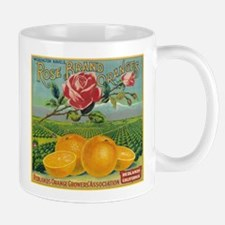 Rose Orange - Vintage Label Mugs