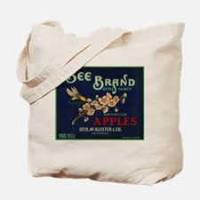 Bee Apple - Vintage Crate Label Tote Bag