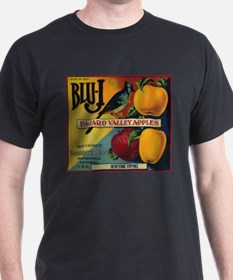 Blu-J Apple - Vintage Crate Label T-Shirt