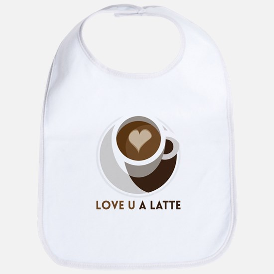 Love U a LATTE Bib