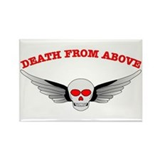 Death From Above Skull Rectangle Magnet