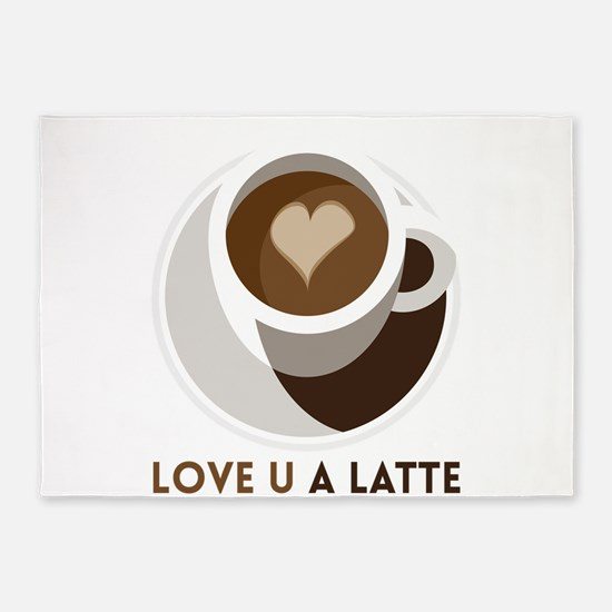 Love U a LATTE 5'x7'Area Rug