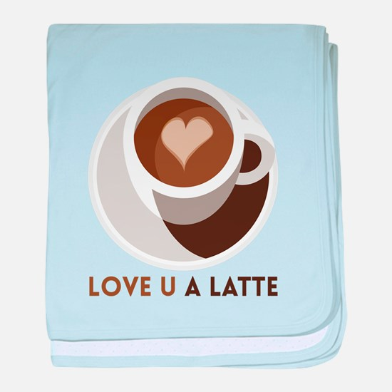 Love U a LATTE baby blanket
