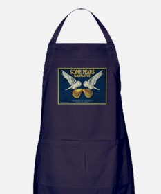 Some Pears Pear - Vintage Crate Label Apron (dark)