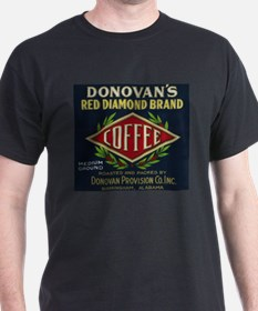 Donovan's - Vintage Coffee Label T-Shirt