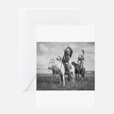 Sioux Indian Chiefs on Horseback Greeting Cards