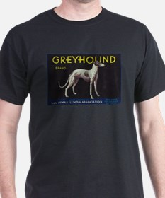 Greyhound Lemon - Vintage Crate Label T-Shirt