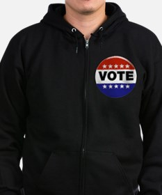 Elections-Vote-Button.png Zip Hoodie