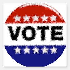"""Elections-Vote-Button.pn Square Car Magnet 3"""" x 3"""""""