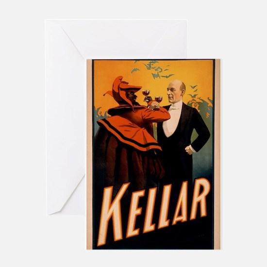 Kellar Magician & the Devil - Vintage Magic Poster